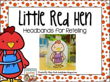 Little Red Hen Headbands for Retelling