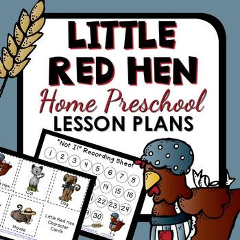Little Red Hen Home Preschool Lesson Plans