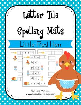 Little Red Hen Letter Tiles Spelling Mat