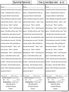 A+ Little Red Hen-G-12 Guided Reading-Book, Lesson Plan, Assessments, Writing