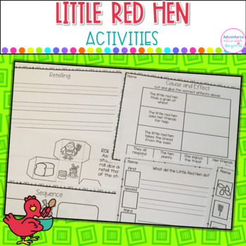 Little Red Hen Literacy Activities