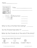 Little Red Hen Literature Activity Unit