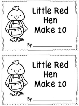 Little Red Hen Make 10 Booklet