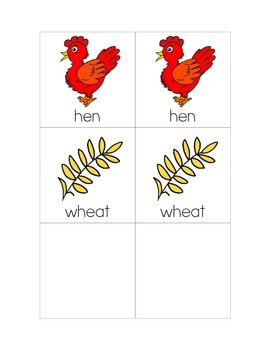 Little Red Hen Matching Game