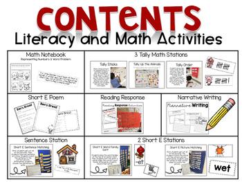 Little Red Hen Math & Literacy Activities