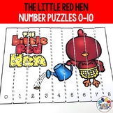 Little Red Hen Math Number Puzzles Counting to 10