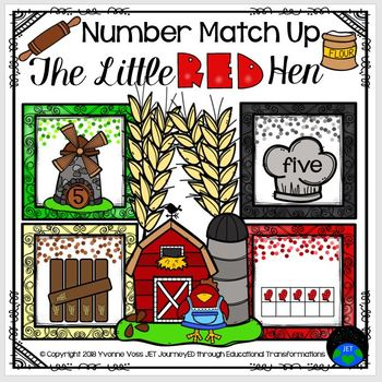 Little Red Hen Number Match Up