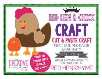 Little Red Hen Nursery Rhyme Craft
