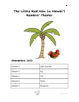 Little Red Hen in Hawaii (Readers' Theater)