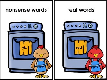 Little Red Hen Real and Nonsense Word Sort