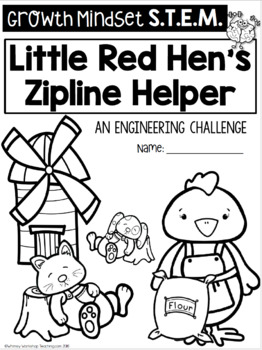 Little Red Hen STEM Challenge with Growth Mindset