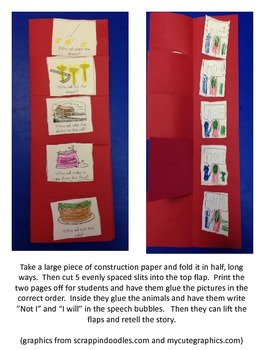 Little Red Hen Story Sequence and Acting Out