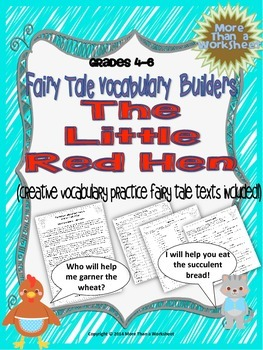 Little Red Hen Vocabulary Builders Grades 4-6
