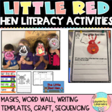 Little Red Hen Word Wall, Masks, Sequencing and Writing Activities