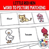 Little Red Hen Word to Pic Matching Autism