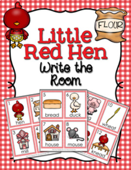 Little Red Hen Write the Room