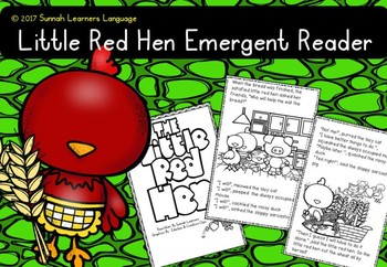 Little Red Hen emergent reader pack 1
