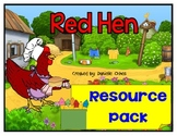 "Little Red Hen resource pack with short ""e"" game"