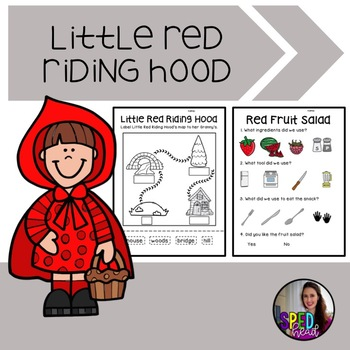 Little Red Riding Hood Adapted Activities; Fairy Tale