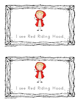 """Little Red Riding Hood: An Emergent Reader"" (Sight Word Focus: I, see)"