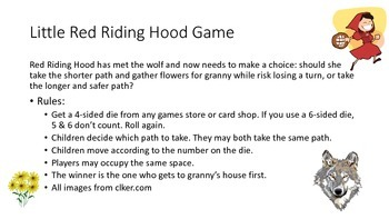 Little Red Riding Hood Board Game