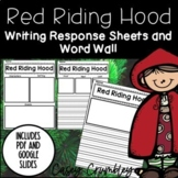 Little Red Riding Hood Book Study Graphic Organizers Respo