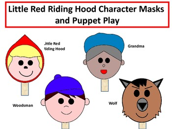 Little Red Riding Hood Masks Worksheets Teaching Resources Tpt