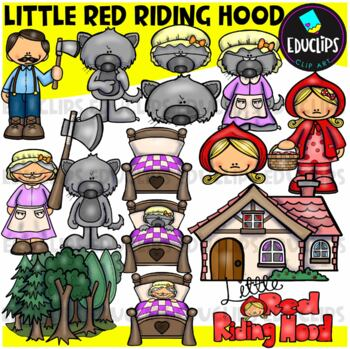 Little Red Riding Hood Clip Art Bundle {Educlips Clipart}
