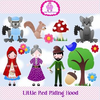 Little Red Riding Hood Clip Art Set