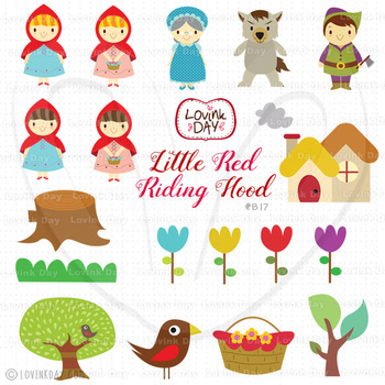 Little Red Riding Hood Clip Art Set B17