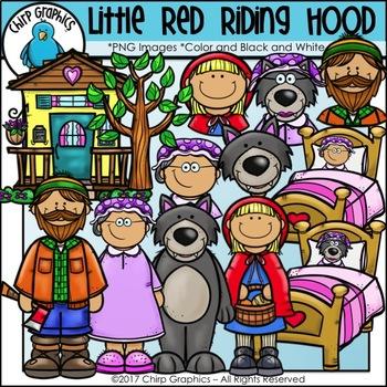 Little Red Riding Hood Clip Art Set - Chirp Graphics