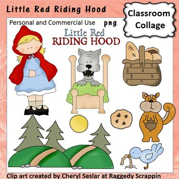 Little Red Riding Hood Clip Art personal & commercial use C Seslar