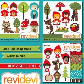 Little Red Riding Hood Clip art (3 packs)