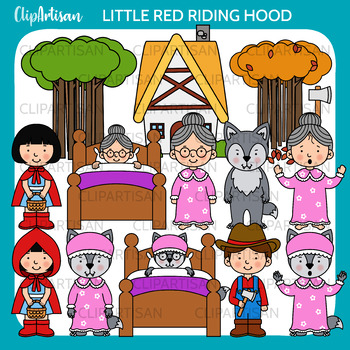 Little Red Riding Hood Clip Art, Fairy Tale Printable