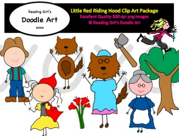 Little Red Riding Hood Clipart Pack