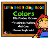 Little Red Riding Hood Colors File Folder Game
