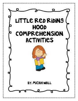 Little Red Riding Hood Comprehension Activity