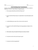 Little Red Riding Hood Comprehension Questions