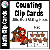 Little Red Riding Hood Counting Clip Cards 1-20