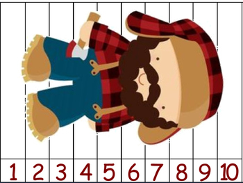 Little Red Riding Hood - Counting Puzzles