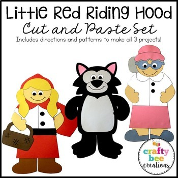 Little Red Riding Hood Cut and Paste Set