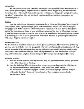 Little Red Riding Hood Depth of Knowledge Lesson Plan