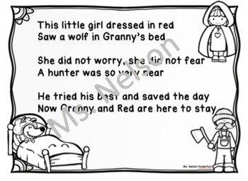 Little Red Riding Hood Emergent Reader & Sight Word Poem Combo