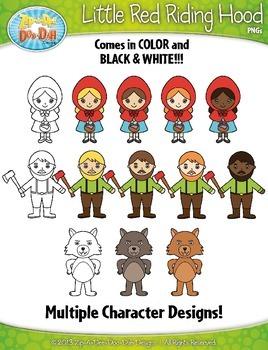 Little Red Riding Hood Fairy Tale Clipart {Zip-A-Dee-Doo-Dah Designs}
