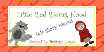 Little Red Riding Hood Felt Pieces