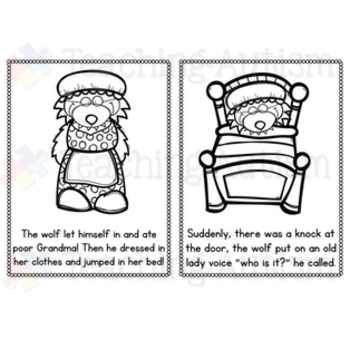 Little Red Riding Hood Flashcard Story
