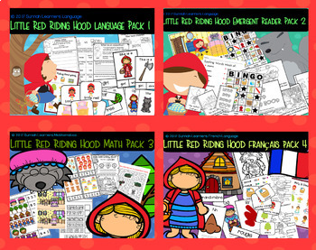 Little Red Riding Hood bundle.  Pack 4