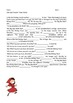 Little Red Riding Hood Grammar Tenses Activity Fairy Tale