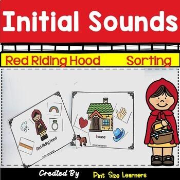 Little Red Riding Hood Initial Sounds Sorting Kindergarten Center Activity