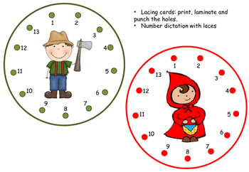 Little Red Riding Hood - Lacing cards